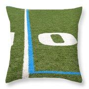 Football Field Ten Throw Pillow