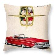 Ford Avertisement, 1959 Throw Pillow