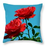 Forests Flowers Throw Pillow