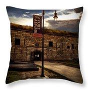 Fort Adams State Park Throw Pillow