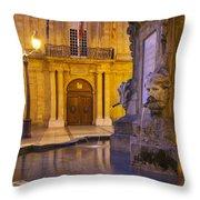 Fountain Aix-en-provence Throw Pillow