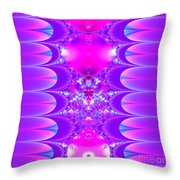 Fractal 16 Purple Passion Throw Pillow