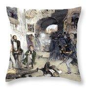 France: Paris Riot, 1851 Throw Pillow