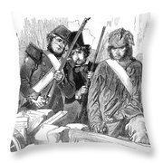 France: Revolution Of 1848 Throw Pillow