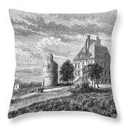 France: Wine Ch�teau, 1868 Throw Pillow