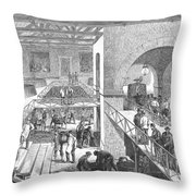 France: Wine Harvest, 1871 Throw Pillow