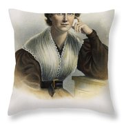 Frances Wright (1795-1852) Throw Pillow by Granger