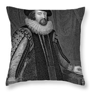 Francis Bacon (1561-1626) Throw Pillow