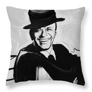 Frank In Black And White Throw Pillow