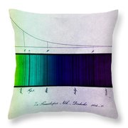 Fraunhofer Lines Throw Pillow by Science Source