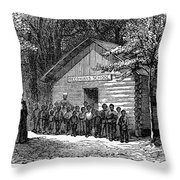 Freedmen School, 1868 Throw Pillow by Granger