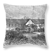 Freedmens School, 1868 Throw Pillow