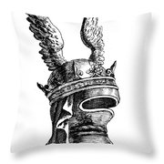 French Medieval Helmet Throw Pillow