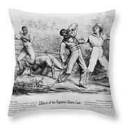 Fugitive Slave Law Throw Pillow