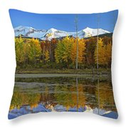 Full Moon Over East Beckwith Mountain Throw Pillow