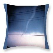 Funnel Cloud Throw Pillow