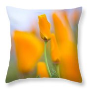 Furled Poppy Throw Pillow