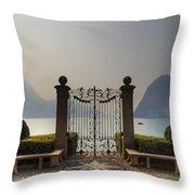 Gateway To The Lake Of Lugano Throw Pillow