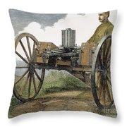 Gatling Gun, 1872 Throw Pillow