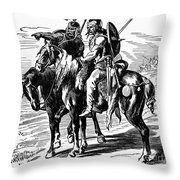 Gaulish Warriors Throw Pillow