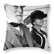 General Lee And Mary Custis Lee Throw Pillow