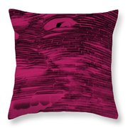 Gentle Giant In Hot Pink Throw Pillow