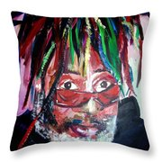 George Clinton Throw Pillow