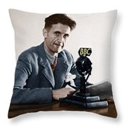 George Orwell (1903-1950) Throw Pillow