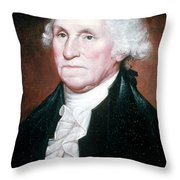 George Washington, 1st American Throw Pillow