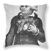 Georges Danton (1759-1794) Throw Pillow