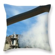 Geothermal Power Plant Throw Pillow
