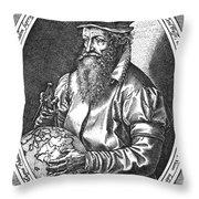 Gerardus Mercator, Flemish Cartographer Throw Pillow
