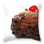 German Chocolate Cupcake 2 Throw Pillow