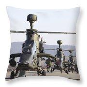 German Tiger Eurocopters At Fritzlar Throw Pillow