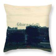 Ghirardelli Square Throw Pillow