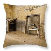 Ghost Town Boarding House Throw Pillow