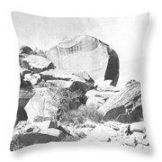 Giant Sandstone Boulders Throw Pillow