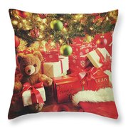 Gifts Under The Tree For Christmas Throw Pillow