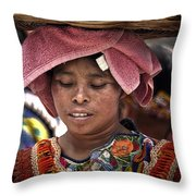 Girl Of Almolonga Throw Pillow
