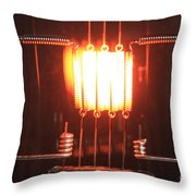 Glowing Filament 4 Of 4 Throw Pillow