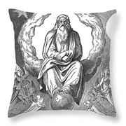God Resting On 7th Day Throw Pillow