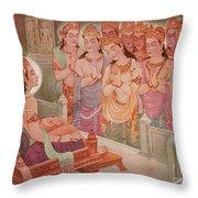 Gods Entertaining Mahavira Throw Pillow