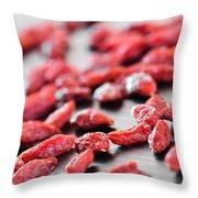 Goji Berries Throw Pillow