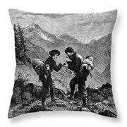 Gold Prospectors, 1876 Throw Pillow