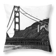 Golden Gate Bridge Work Throw Pillow