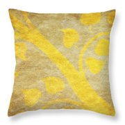 Golden Tree Pattern On Paper Throw Pillow