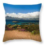 Gorse And Rhododendron Bushes Throw Pillow