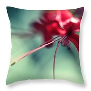 Grace. Natural Watercolor. Touch Of Japanese Style Throw Pillow