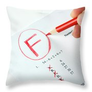 Grading Throw Pillow by Photo Researchers, Inc.