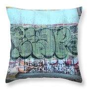 Graffiti - Tubs Iv Throw Pillow